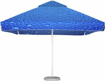 LITEX Promo Sp. z o.o. Parasol ogrodowy Barbados 3,5x3,5m Bąbelki Niebieskie z p
