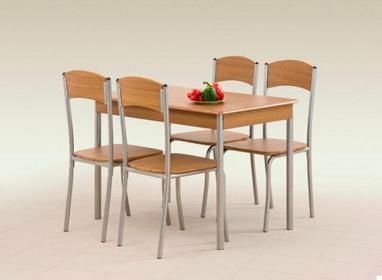 Halmar Stół z krzesłami LONGIN + 4 krzesła (Orzech)