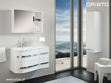 Oristo Meble łazienkowe Opal w kolorze białym | Opal biały