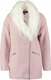 Lipsy Płaszcz wełniany /Płaszcz klasyczny różowy OU01075