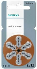 Siemens 6 X BATERIE DO APARATÓW SŁUCHOWYCH 312