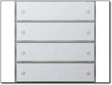 Gira KNX Czuj Przycisk 3 Komfort poczwórny F100 biały