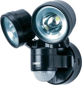 GEV Lampa LED 14718 z czujnikiem ruchu 2 x 4 W 450 lm 6300 K IP44 Czarna