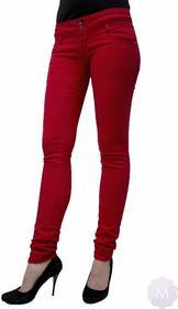 Trang Spodnie jeansy rurki biodrówki czerwone - czerwony