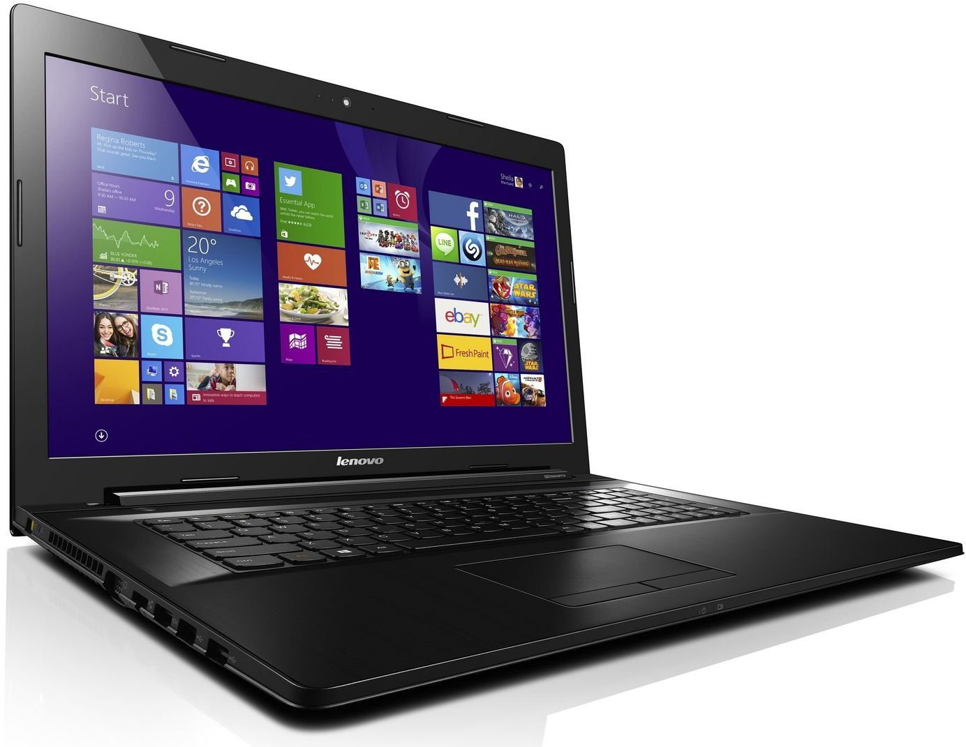 "Lenovo IdeaPad Z70-80 17,3"", Core i5 2,2GHz, 8GB RAM, 1000GB HDD + 8GB SSD (80FG0083PB)"