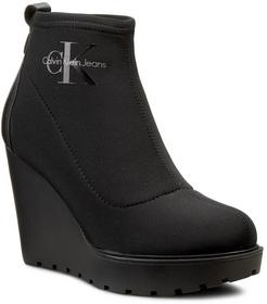 Calvin Klein Jeans Botki - Seven R3544 czarny materiał, skóra ekologicz