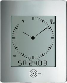 Zegary ścienny cyfrowy 60-4507 240 x 285 x 39 mm srebrny