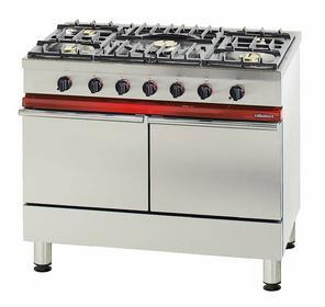 Bartscher 5-palnikowa kuchnia gazowa z 2 piekarnikami gazowymi BT2005771