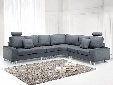 Beliani Luksusowa sofa tapicerowana - kanapa z 100% poliestru w kolorze ciemnoszarym - STOCKHOLM