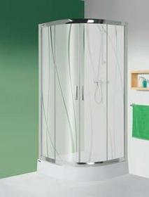 Sanplast Tx 5 80 KP4/TX5-80+BPza 80x80 profil srebrny matowy szkło CR + brodzik