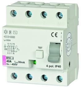 ETI wyłącznik różnicowo-prądowy P 304 40A 30mA TYP AC 002062138
