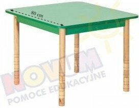 Novum Stół kolorowy kwadratowy z dokrętkami prostymi