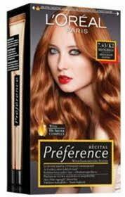Loreal Paris Recital farba farba do włosów K2 7,43 Schangrilla rudy Bl