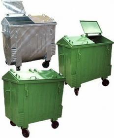 Pojemnik metalowy na odpady komunalne 1100 - K SM031