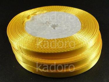 Wstążka atłasowa 6 mm żółta - rolka