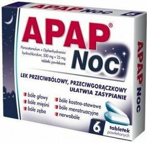 US Pharmacia Apap Noc 500mg 6 szt.