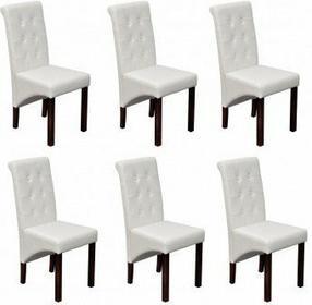 Krzesła jadalniane białe (6 sztuk).