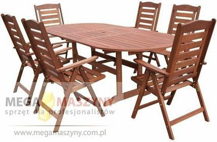 Hecht Zestaw ogrodowy - stół + 6 krzeseł Praga