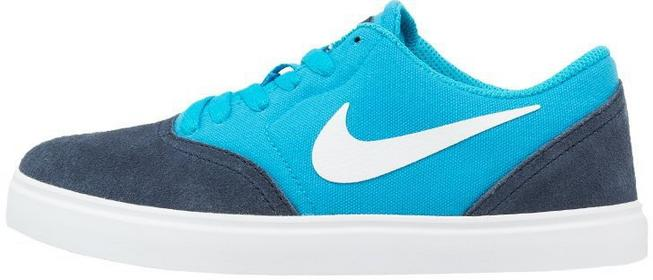 Nike SB CHECK Tenisówki i Trampki obsidian/white/blue lagoon/black 705266