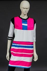 DaWanda.pl sukienka recyclingwear różowyOWA ZEBRA II 78190795 female