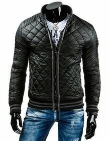 Męska kurtka przejściowa czarna (tx1037)