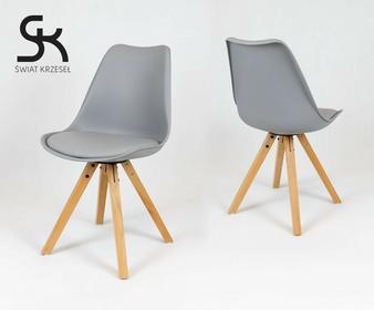 Świat Krzeseł KR020A SZARE krzesło na drewnianym stelażu KR020 A SZ