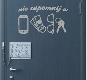 Naklejka na drzwi nie zapomnij nr 1