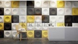 Dunes Squares - Panel dekoracyjny ścienny 3D