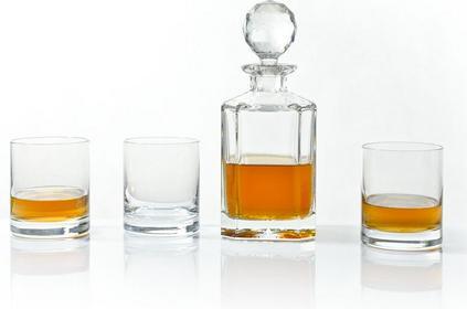 Bohemia Kryształ karafka + Szklanki do whisky - Fiona Jihlava