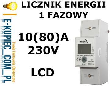 Ledsystems A30-BM01B-L Licznik ENERGI 1-fazowy 5 (80)A BM01B-L
