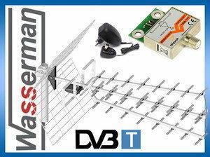 Dipol Antena DVB-T Tri Digit ECO + wzmacniacz (47dbi)