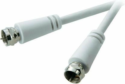 SpeaKa Kabel antenowy Professional złącze F/złącze F 75 Ohm biały 3 m
