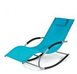 HOMEKRAFT t Bergamo Leżak plażowy niebieski