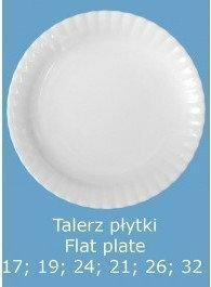 Altom IWONA NIEDEKOROWANA TALERZ płytki 19CM