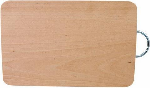 Deska do krojenia z metalowym uchwytem średnia 32,5x21,5x1,5 cm Eko