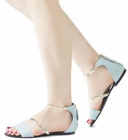 niebieskie sandały Kristín