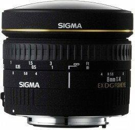 Sigma 8mm f/3.5 EX DG Circular Fisheye Nikon