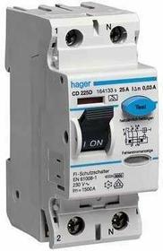 Hager Wyłącznik różnicowoprądowy 2P 25A 30mA typ AC CDC225J