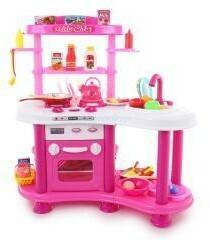 Kinderplay Różowa kuchnia z wodą