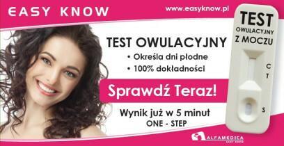 ALFAMEDICA SP. Z O.O. Test Owulacyjny Easy Know - płytkowy, 1 sztuka