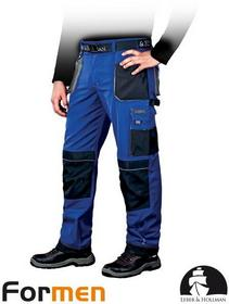Leber & Hollman NIEBIESKIE spodnie ROBOCZE DO PASA LH-FMN-T (NBS) promocja!