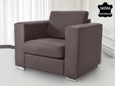 Beliani Skórzany fotel brazowy - sofa - HELSINKI