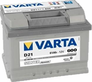 Varta Akumulator Silver Dynamic D21 61 Ah 600 A