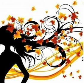 Jesienna fryzura - Obraz, reprodukcja