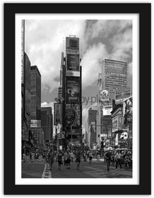 Feeby Times Square, Obrazy w ramie - Czarny