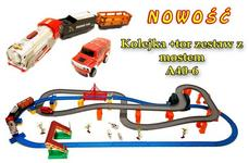 Super-Toys KOLEJKA Z  MOSTEM+TOR+TUNEL NOWOŚĆ/A40-6 A40-6