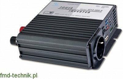 MW Power Przetwornica 12 VDC/230VAC 300 W czysty sinus IZ12-300-S