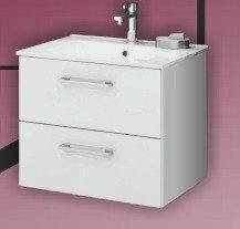 Deftrans SILESIA Zestaw łazienkowy szafka + umywalka, biały połysk 190-D-06002+1