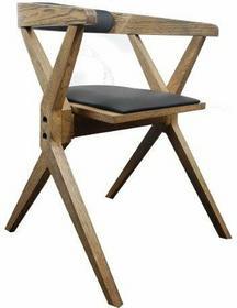 Designerskie Krzesło loftowe z litego drewna dębowego składane Loftherapy Bekvam