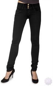 Miss RJ Spodnie jeansy rurki biodrówki z podwyższonym stanem na 3 guziki (YK23